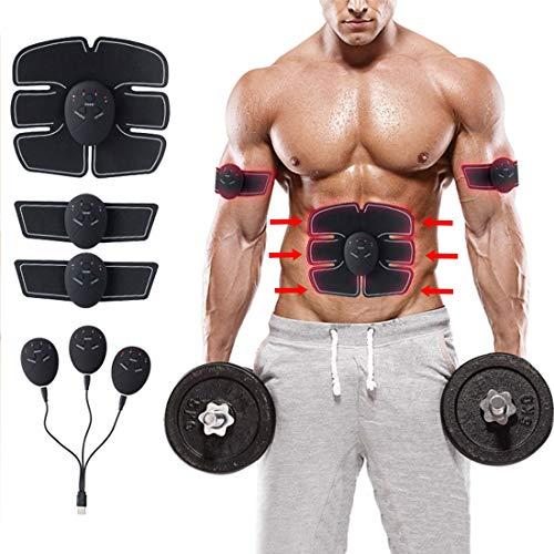 tmtonmoon Electroestimulador Estimulador Muscular Abdominales,Estimulador Abdominales Muscular Masajeador CinturónMuscular Abdominales, para Abdomen/Cintura/Pierna/Brazo