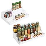 mDesign Juego de 2 Especiero extensible para armario de cocina – Estante para especias idóneo...