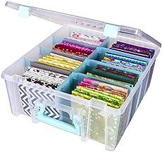 ArtBin Art Storage Box, Clear & Aqua