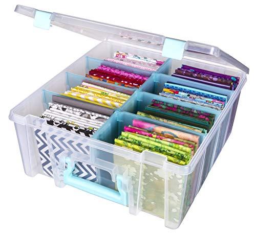 ArtBin Storage Box, Clear & Aqua