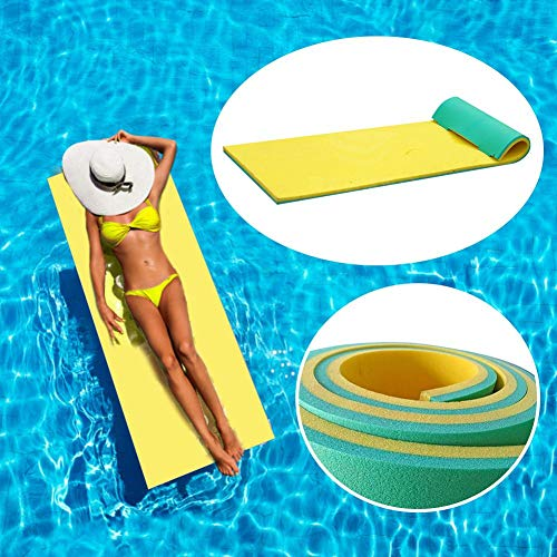 Pool Schwimmende Decke, Faltbare Roll-up Rückenlehne Schwimmhängematte Pool Schwimmende Wasserdecke Soft Water Schwimmende Matratze Zum Sonnenbaden Picknicks Komfortable Wasser Schwimmende Matratze