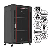 Sysracks 18U 24 Inch Deep Wall Mount It Server Rack Cabinet Enclosure...