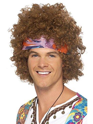 Générique Perruque hippie brune afro