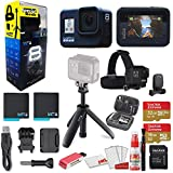 GoPro HERO8 Black Action Camera - Starter Bundle + GoPro Shorty + GoPro Head Strap + Sandisk 32GB & 16GB SD Cards + 2 Batteries + Case and More. Waterproof, Touchscreen, 4K, 12MP, Live Streaming