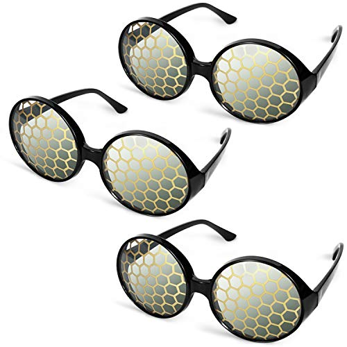 3 Pairs Bug Eyes Glasses Fly Glasses Halloween Bug Eyes Sunglasses Yellow Party Favors