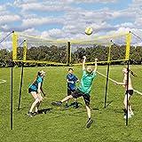 Red de Voleibol, Red de Voleibol Cruzada de Cuatro Cuadrados, Set de red de voleibol portátil al aire libre, Ultimate Backyard & Beach juego para niños y adultos, para jugar voleibol ( Size : 3X0.5M )