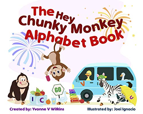 The Hey Chunky Monkey Alphabet Book (Chunky Monkey Books 1) (English Edition)