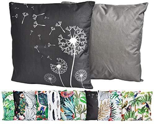 JACK Outdoor Lounge Kissen 45x45cm Motiv Dekokissen Wasserfest Sitzkissen Garten Stuhl, Farbe:Pusteblume