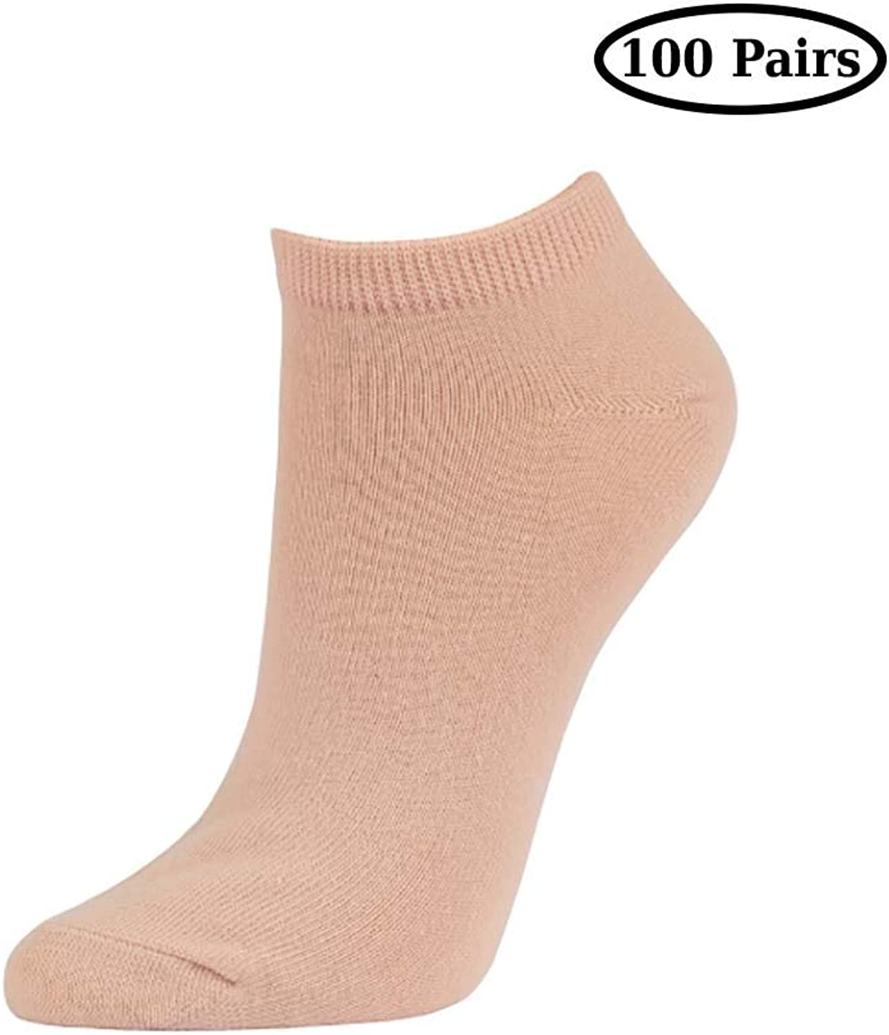 Qraftsy Soft Cotton Poly Basic No Show Socks Everyday Wear  shoes Size 69 Sock Size 911 100 Pairs