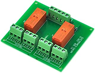 ELECTRONICS-SALON Passive Bistable/Latching 2 DPDT 8 Amp Power Relay Module, 5V Version, RT424F05