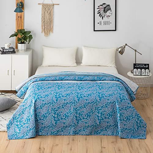 5 estilos Boutis - Colcha reversible de 4,5 tog, 240 x 260 cm, edredón ligero de 4 temporadas, hipoalergénico, 150 g/m2, para cama