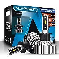 NOVSIGHT H3 LEDヘッドライト 新車検対応 10000LM 50W ファンレス 360°調整可能 驚異の純正ハロゲンサイズ登場 99%車種対応 360°発光 2年保証 静音 2個セット