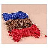 Cuerda de algodón suave retorcida de 10 m (32 pies) (Color al azar)