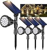 ROSHWEY Solar Lights Outdoor, 18 LED Landscape Lighting Waterproof Solar Flood Lights for Yard Patio Porch Wall Garage (Cool White,4Pack)