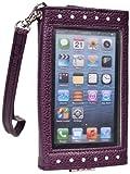 Kroo Clutch, Handgelenktasche für 12,7 cm (5 Zoll) Smartphone, durchsichtiges Display, Tragetasche, Keine Einzelhandelsverpackung, Violett/Weiß