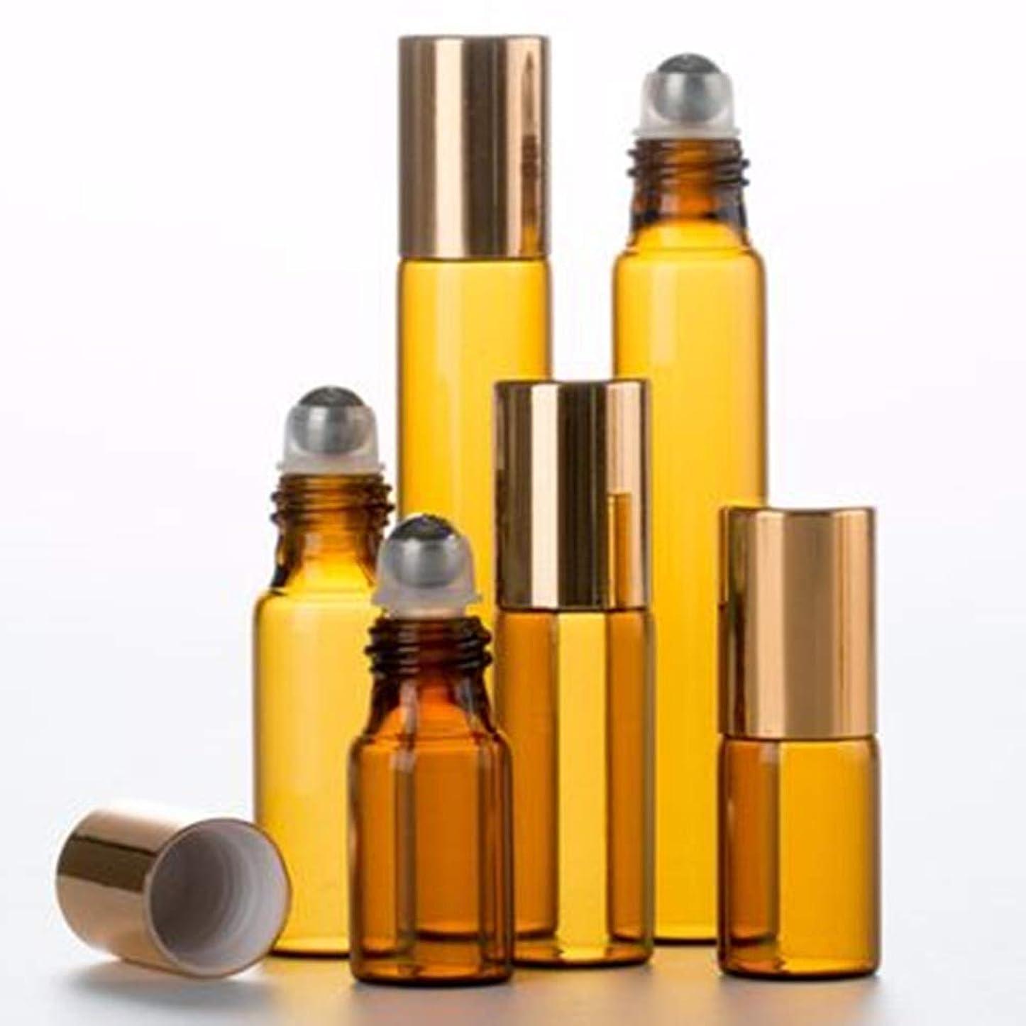 消毒剤優雅なショートShopXJ 遮光瓶 アトマイザー ロールオン ブラウン (3ml)