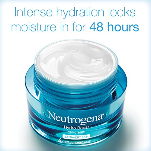 Neutrogena Hydro Boost Hyaluronic Acid Hydrating Face Moisturizer Gel-Cream to Hydrate and Smooth Extra-Dry Skin, 1.7 Oz