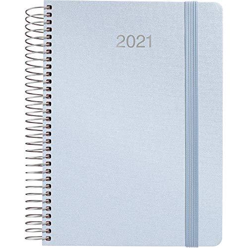 Grafoplás 70302739. Agenda Día Página 2021, Espiral, Azul...