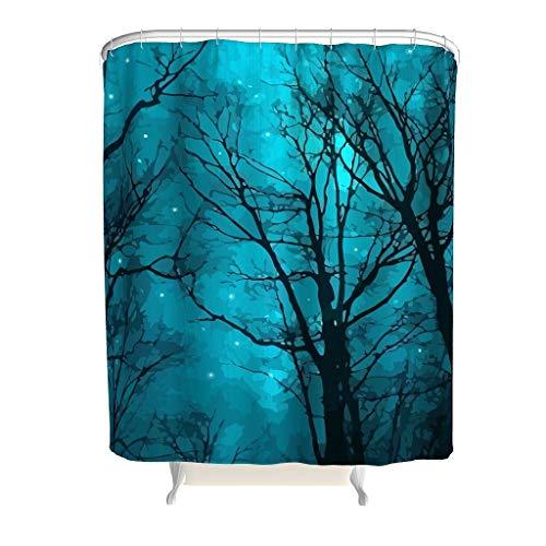YxueSond Stars Can't Shine Without Darkness Badezimmer Duschvorhang Stoff Retro Badezimmer Dekor Vorhang mit Standard-Größe, Polyester, weiß, 200x200cm
