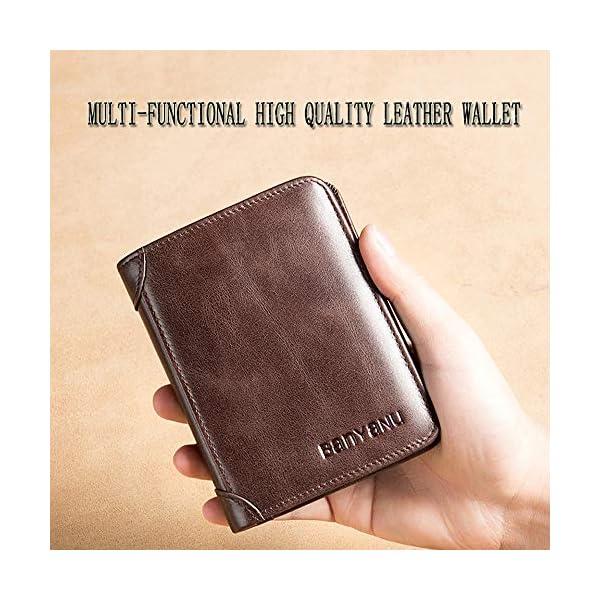 Wallet for Men Mens Leather Wallet Slim Front Pocket Wallet Billfold RFID Blocking BANYANU 3