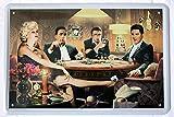 Blechschild 20x30 cm Pokerrunde der Filmlegenden Elvis