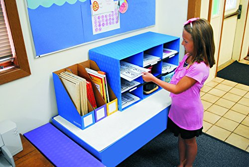 """Bankers Box Classroom 9 Compartment Cubby Storage 16""""H x 28 1/4""""W x 13""""D (3380701) , Blue"""
