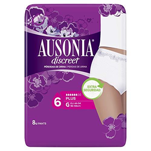 Ausonia Discreet Pants Plus G Lot de 8 culottes pour fuites urinaires