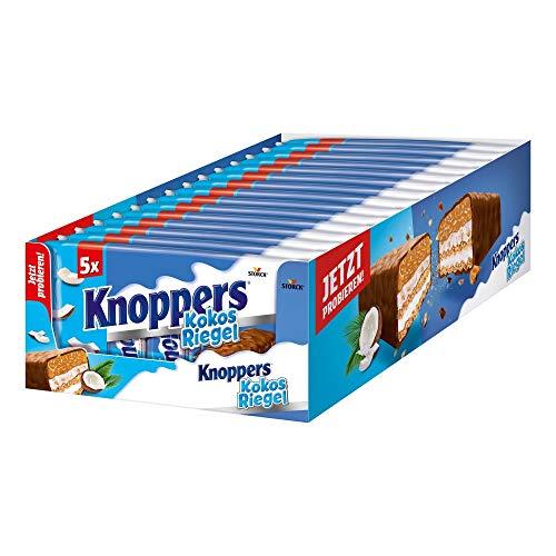 Knoppers KokosRiegel (15 x 200g) / Kokosriegel mit Karamell in Milchschokolade