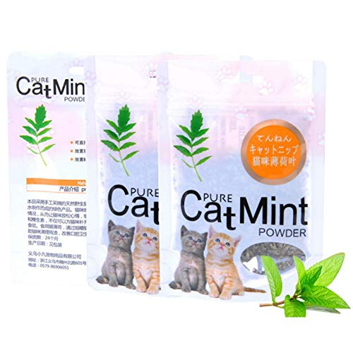 BizAmzz - Cat Toys - Cat Mint Natural Organic Premium Catnip 10g Menthol Flavor Cats Treats Funny Toy - Item Fuzzy Springs Hexbug Chewing Yellow Doorway Best Track Foam Noise Tunnels Yeowww Valentines