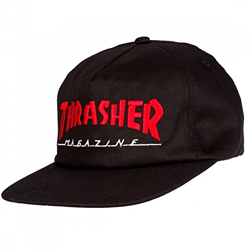 GORRA THRASHER MAGAZINE LOGO TWO-TONE BLACK RED