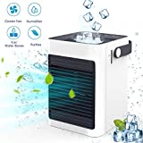IOQSOF, Portable Mini Conditioner Evaporative Air Humidifier Personal Space Cooler USB Desk Fan