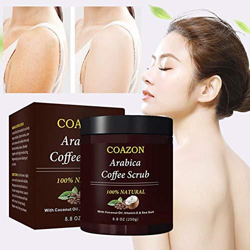 Kaffee-Peeling Mit Bio-Kokosöl Und Salz Aus Dem Toten Meer Für Alle Natürlichen Körper- Und Gesichtspeelings Gesichtsreinigung, Aufhellung, Befeuchtung, Akne- Und Cellulitebehandlung