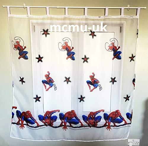 polo Disney Gardine mit Schlaufen Spiderman -225 cm Breite x 160 cm Lange Kinderzimmer