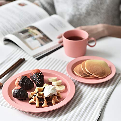 YUWANW Macaron Color Ceramic Cups and Breakfast Plates A Day with The Money Western Inventory Heart Cup, Bright Yellow [Ears]