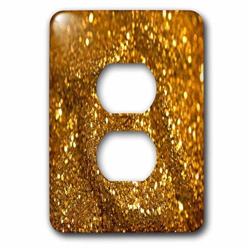 3dRose lsp_213527_6ゴールドフラッシュ2プラグおよびソケットカバー