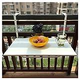 Giardino Barandilla de balcón para Exteriores, Mesa Plegable para Colgar, Mesa...