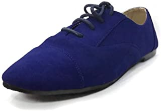 Wells Collection Womens Lace-up Shoes Oxford Flat Jazz