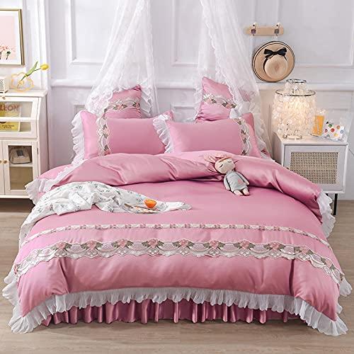 juegos de sábanas infantiles 105-Princesa feng shui lavado de seda cama linda camara cama soporte para estudiantes dormitorio dormitorio suite, rey doble arena cama doble cama individual almoh