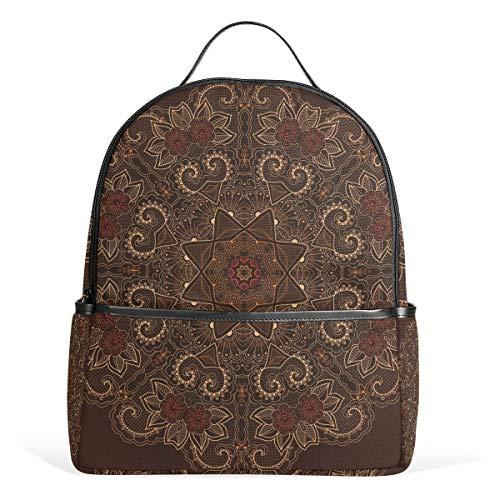 TIZORAX Hippie Mandala Bohemian Laptop Rucksack Casual Schulter Daypack für Studenten Schultasche Handtasche - Leicht