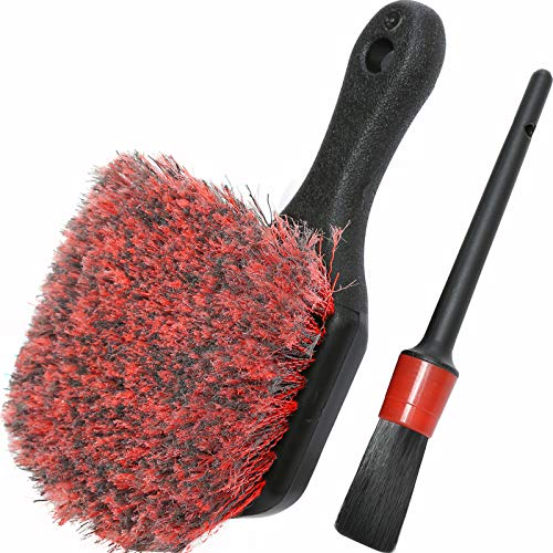 Wheel & Tire Brush, Soft Bristle Car Wash Brush, Plus...