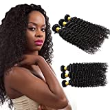 Deep Curly Hair Bundles 10A Brazilian Hair 3 Bundles Unprocessed Mink Human Hair Cheap Long Bundles Wholesale Lots Raw Remy Hair Weave Sew In Extension For Black Woman Natural Color 20 22 24 Inch