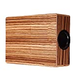Yamyannie Box Drum Zebra Legno Cajon Hand Drum Percussion Box di Custodia for la Corsa Cajon (Color : Wood, Size : 95x235x290mm)