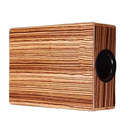 Schlagzeug Cajon-Trommel Zebra Holz Stoß-Musikinstrument Box Portable Cajon Handtrommel Box mit Tragetasche for Reisen ( Color : Wood , Size : 95x235x290mm )