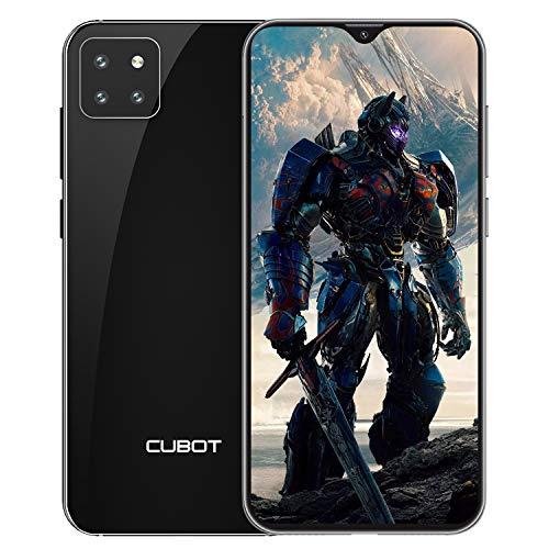 """CUBOT X20 Smartphone ohne Vertrag, 3-Kameras, Ultraweitwinkel, AI Modus, 4G dünn Handy, 6.3"""" FHD Display, 4000mAh Akku, 4GB RAM+64GB ROM, 128GB erweiterbar, Dual SIM, Android 9.0 Pie, Face-ID, Schwarz"""