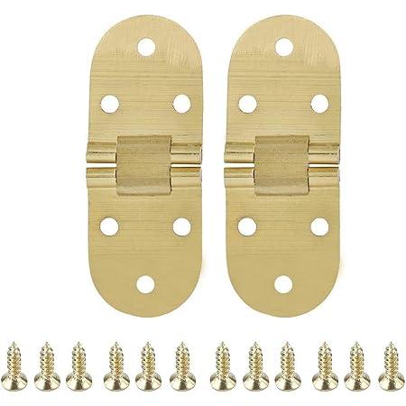 borde redondo para m/áquina de coser 2 bisagras plegables de metal de aleaci/ón de zinc FTVogue