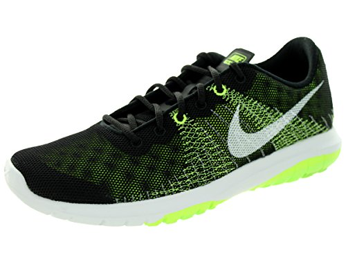 Nike Kids Flex Fury (GS) Black/White/Volt/Flash Lime Running Shoe 5 Kids US