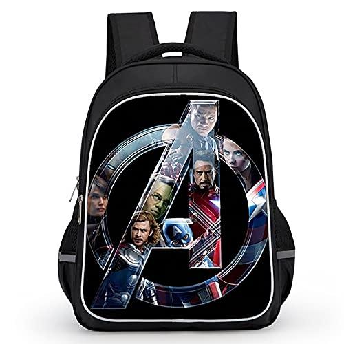 PRETAY Zaino Capitan America Spiderman, Iron Man, Hulk,Thor Zaino Asilo Spiderman Zaino per Bambini Spiderman per Studenti Zaino Regolabile per Libro di Scuola Materna (Color : E, Size : L(39CM))