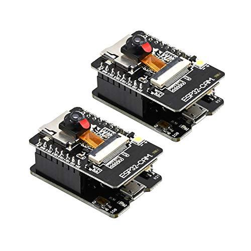 diymore ESP32 CAM Entwicklungsplatine, WLAN/Bluetooth, ESP32 DC 5V Dual-Core-Entwicklungsplatine mit OV2640 Kamera-TF-Karten-Modul