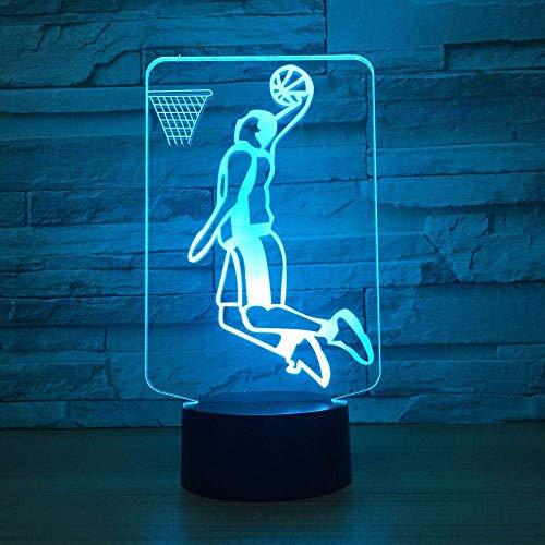 3D illusie lamp, slam donker, 7 kleuren nachtlampje Home Decor folie LED nachtkastje verlichting voor jongens meisjes Kerstmis verjaardagscadeau.