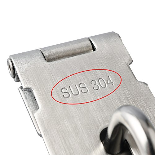 Product Image 5: Alise MS9-3A Padlock Hasp Door Clasp Hasp Lock Latch SUS 304 Stainless Steel Brushed Nickel